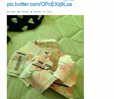 A One Direction Fan from the Philippines Ripped up her VIP Ticket after she knew that Zayn and Louis are smoking Weed