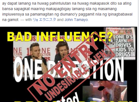 There is a possibility that 'One Direction' Concert in the Philippines might be cancelled