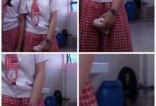 A ghost caught in a photo by the students of Rizal High School ?