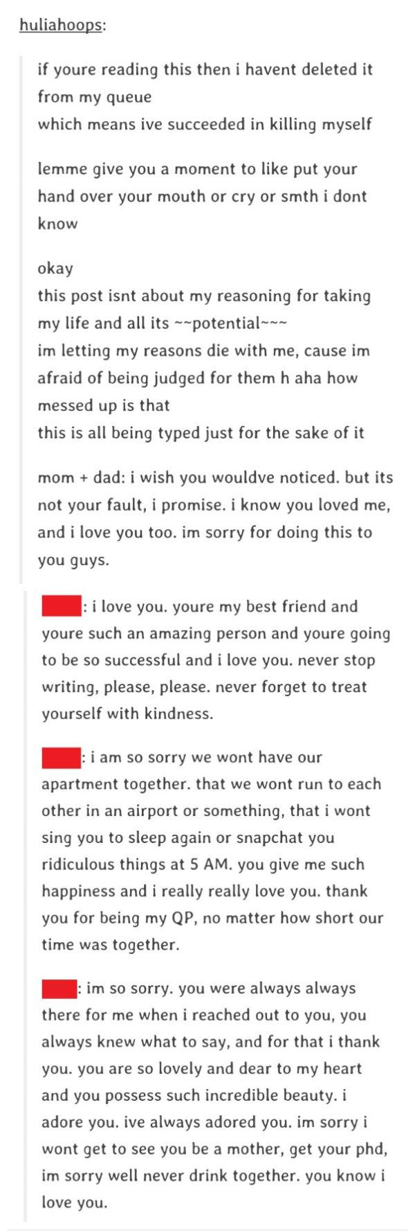 Suicide Letter Of Julia Buencamino Circulating On Social Media