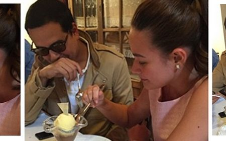 John Lloyd and Bea caught eating together in Spain.