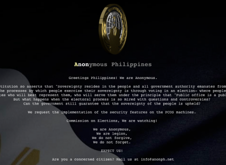 COMELEC hacked by Anonymous PH