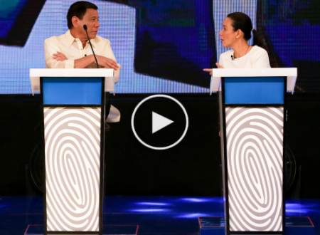 "WATCH: Duterte asked Poe to sing ""Bakit Ngayon ka lang"" Together"