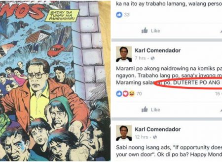 "Mar Roxas comics ""Sa Gitna ng Unos"" Illustrator explains that he is still a SOLID DUTERTE supporter"