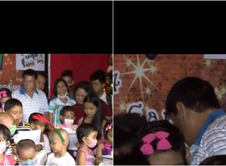Duterte cries after being touched by the sick kids who dedicated a song him