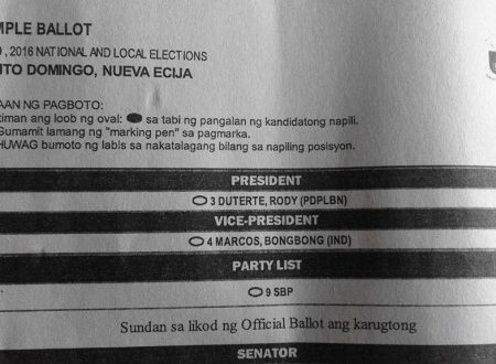 INC Sample Ballots circulating on the internet, a hint for an official Endorsement of INC to Duterte