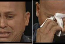 "PNP Chief Ronald ""Bato"" Dela Rosa cries in the ""BOTTOMLINE with Boy Abunda"""