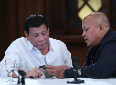 Look: Pres. Rodrigo Duterte, PNP Chief Ronald Bato Dela Rosa and Senators in Malacang Palace