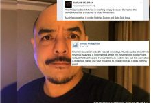 "iInvest PH denounced Yellow Supporter Carlos Celdran on FB: ""Tourist guides shouldn't be Financial Analysts."""