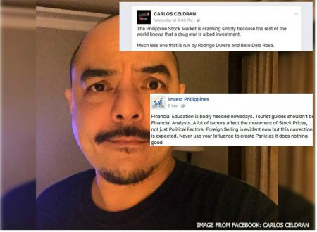 """iInvest PH denounced Yellow Supporter Carlos Celdran on FB: """"Tourist guides shouldn't be Financial Analysts."""""""