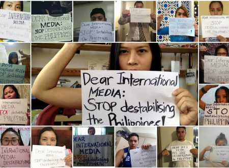 Duterte supporters started a protest on Social Media, asking international media to stop destabilising the Philippines