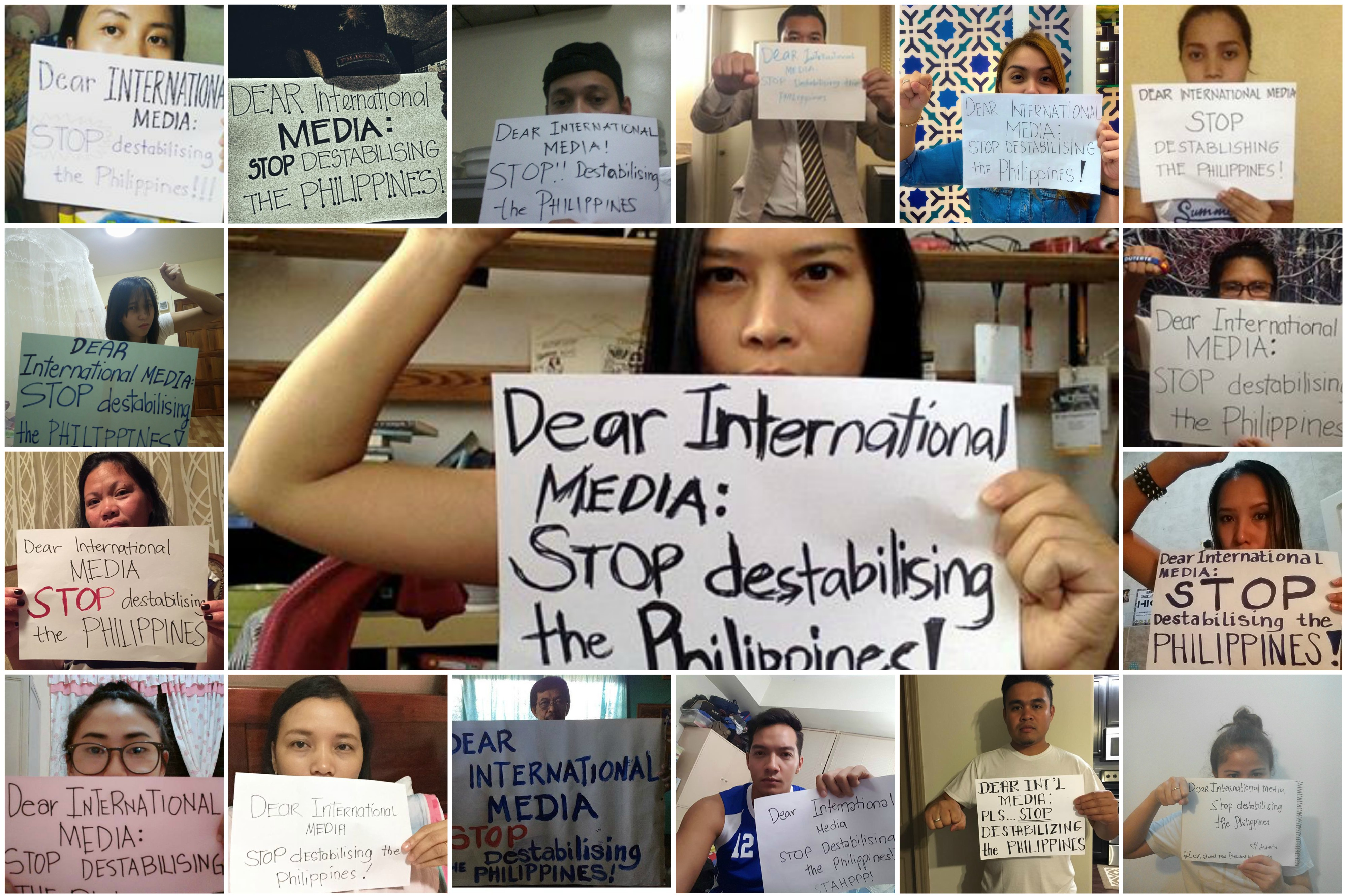 Image result for international media stop destabilizing Philippines pic