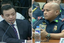 WATCH: PNP Chief Bato Dela Rosa bravely answeres the questions of Trillanes
