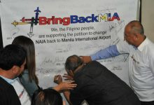 A petition asking Duterte administration to bring back the old name of NAIA to Manila International Airport pushes