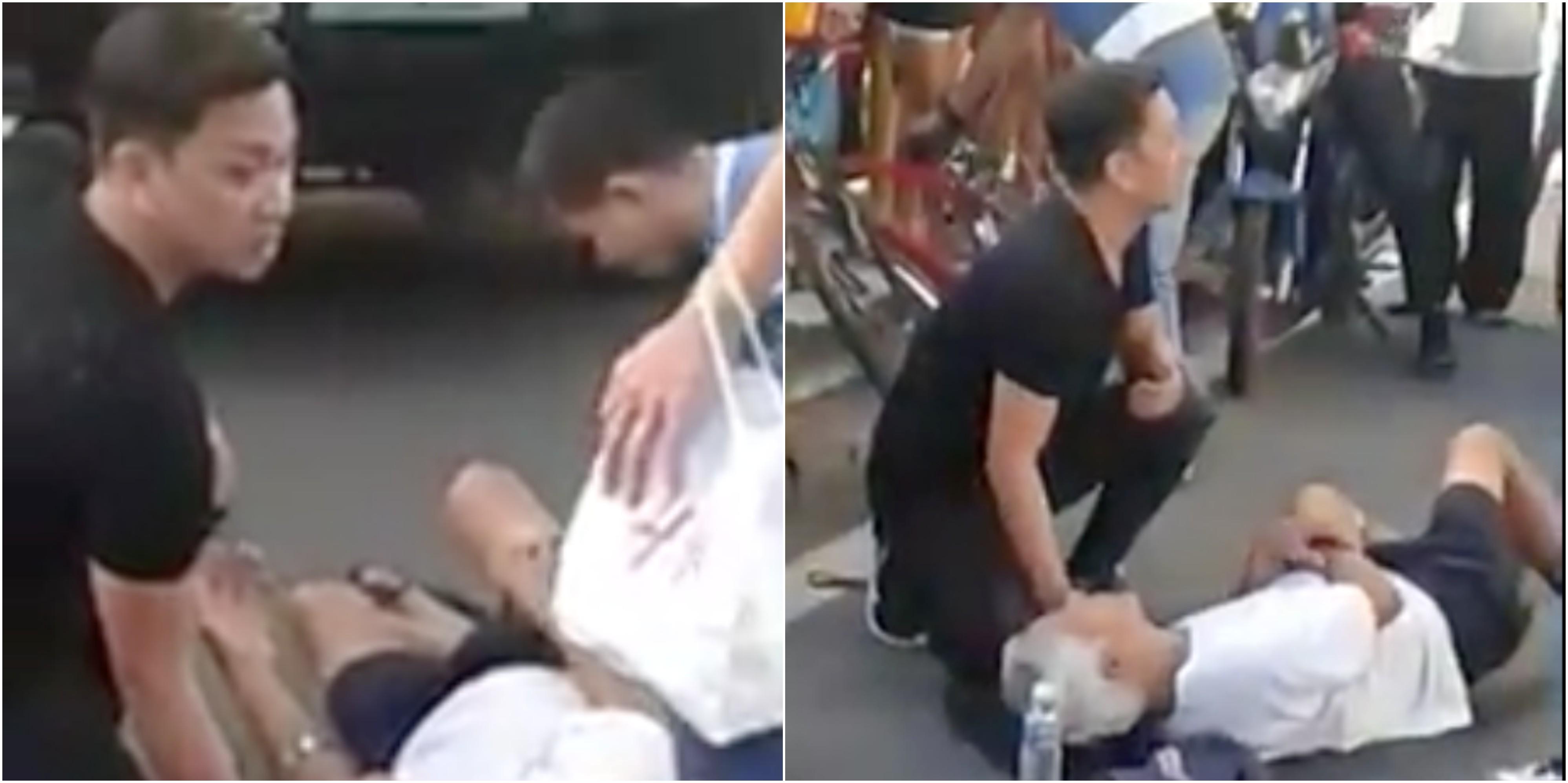 WATCH: Artist Jhong Hilario personally helps an injured old man