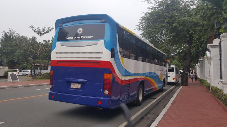 The bus of Malacañang Palace was also used in the first ever Mayor's field trip to meet and greet President Rodrigo Duterte Photo: PRR