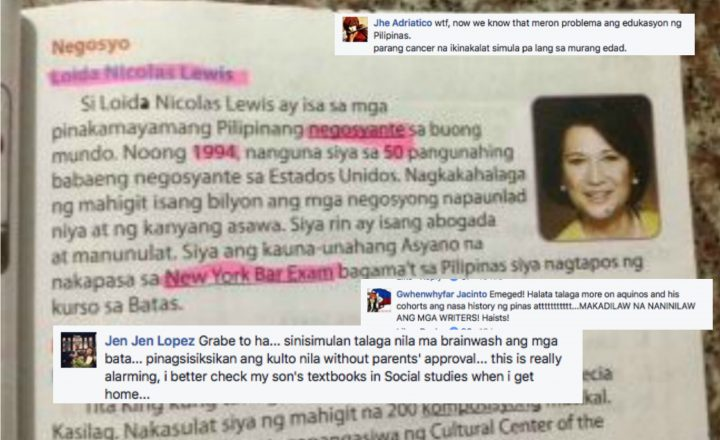 LOOK: Netizens reacts after seeing Fil-Am Billionaire Loida Nicolas Lewis included in Sibika at Kultura textbooks