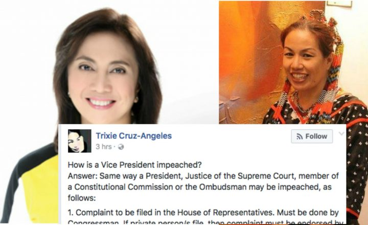 A prominent lawyer reveals how to impeach Vice President Leni Robredo