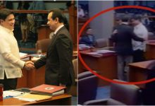 """After the confrontation yesterday"" WATCH: Senator Trillanes approached Senator Migz Zubiri today and had a little chat"