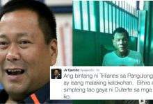 """Senator JV Ejercito defends President Duterte: """"Ang bintang ni Trillanes ay kalokohan, si President ang pinakasimpleng tao na nakilala ko"""""""