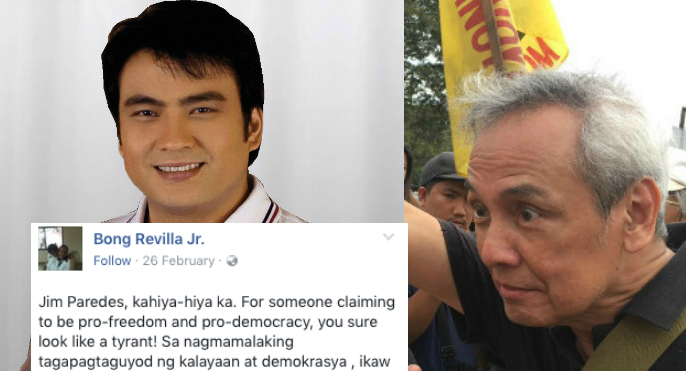 "Bong Revilla Writes Open Letter To Jim Paredes: ""Kahiya"