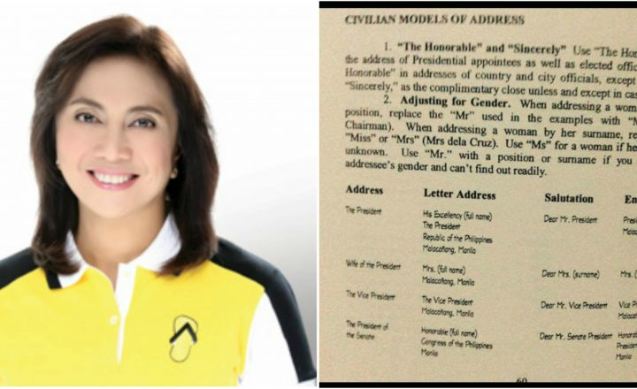 "VP Robredo addresses as ""her excellency"", but netizens said that the title is only for President"