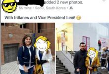 """Nagkataon lang?"" Vice President Leni Robredo and Senator Trillanes spotted in South Korea"