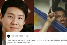 Richard Poon: Believe me, you will call Duterte for help, if one day you encounter a real evil