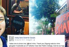 Davao City Mayor Inday-Sara Duterte hits back at UP: Buti hindi ako pinayagan mag aral sa UP ni Digong