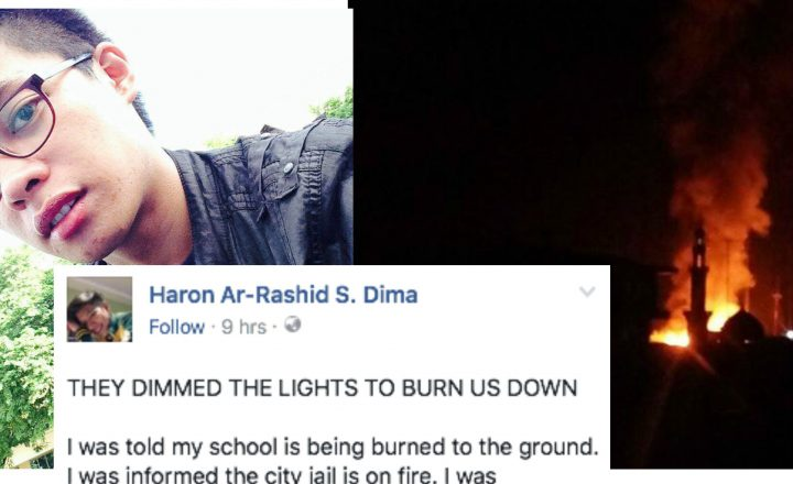 "A muslim student writes a touching open letter on Facebook after non-muslim in Marawi were held as hostages by Maute Group: ""Burn your extremist  false beliefs"""