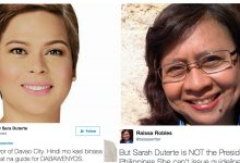 "Inday Sara Duterte hits Raissa Robles on Twitter: ""Palibhasa hanggang Twitter ka lang"""
