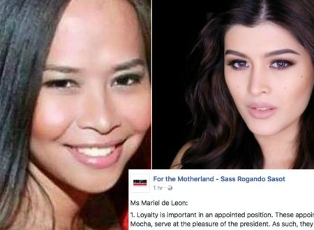 LOOK: Sass Sasot burns BB. Pilipinas International 2017 Mariel De Leon and explains why Mocha deserves her current gov. position