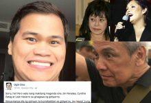 "Ogie Diaz slams Jim Paredes, Cynthia Patag and Leah Navarro on social media: ""Bulag kayo sa kapalpakan ni PNoy"""