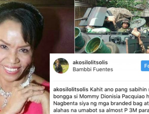 Lolit Solis admires Mommy Dionesia for selling 3M worth of bags, jewelry to raise funds for the soldiers in Marawi