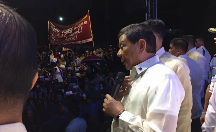 WATCH: President Duterte confronts Anti-Duterte protesters  after his SONA speech