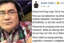 Erwin Tulfo resigns from TV5