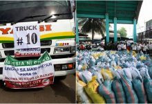 LOOK: Iglesia ni Cristo sends trucks carrying 100,000 relief packs to the people of Marawi City