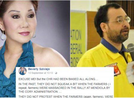 """Actress Beverly Salviejo slams CHR: """"CHR had been biased all along, hindi nga ang mga Massacre during Aquino admin"""""""