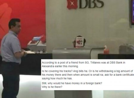 "Netizen doubts Sen. Trillanes visit in Singapore to clear his name: ""Kung wala ka talagang account, bakit ka pupunta doon to ask for certificate?"""