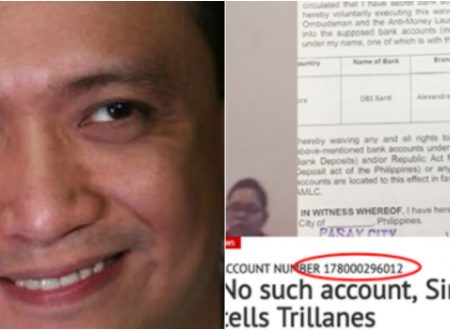 READ: Did Trillanes checked an account in DBS Singapore different from the account number in his waiver and circulating documents?