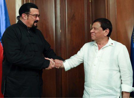 LOOK: Action star Steven Seagal meets President Duterte in Malacañang