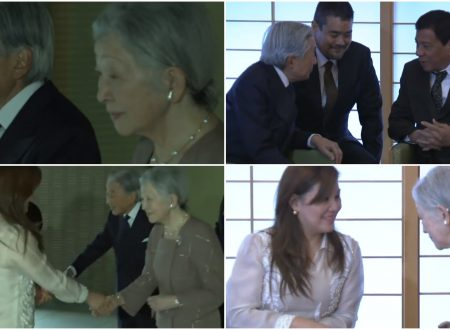 WATCH:Japan Emperor Akihito and Empress Michiko, personally welcomes Duterte and his partner Honeylet in their palace
