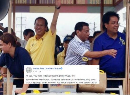 Inday Sara explains story behind her photo together with Rody, Mar and Noynoy