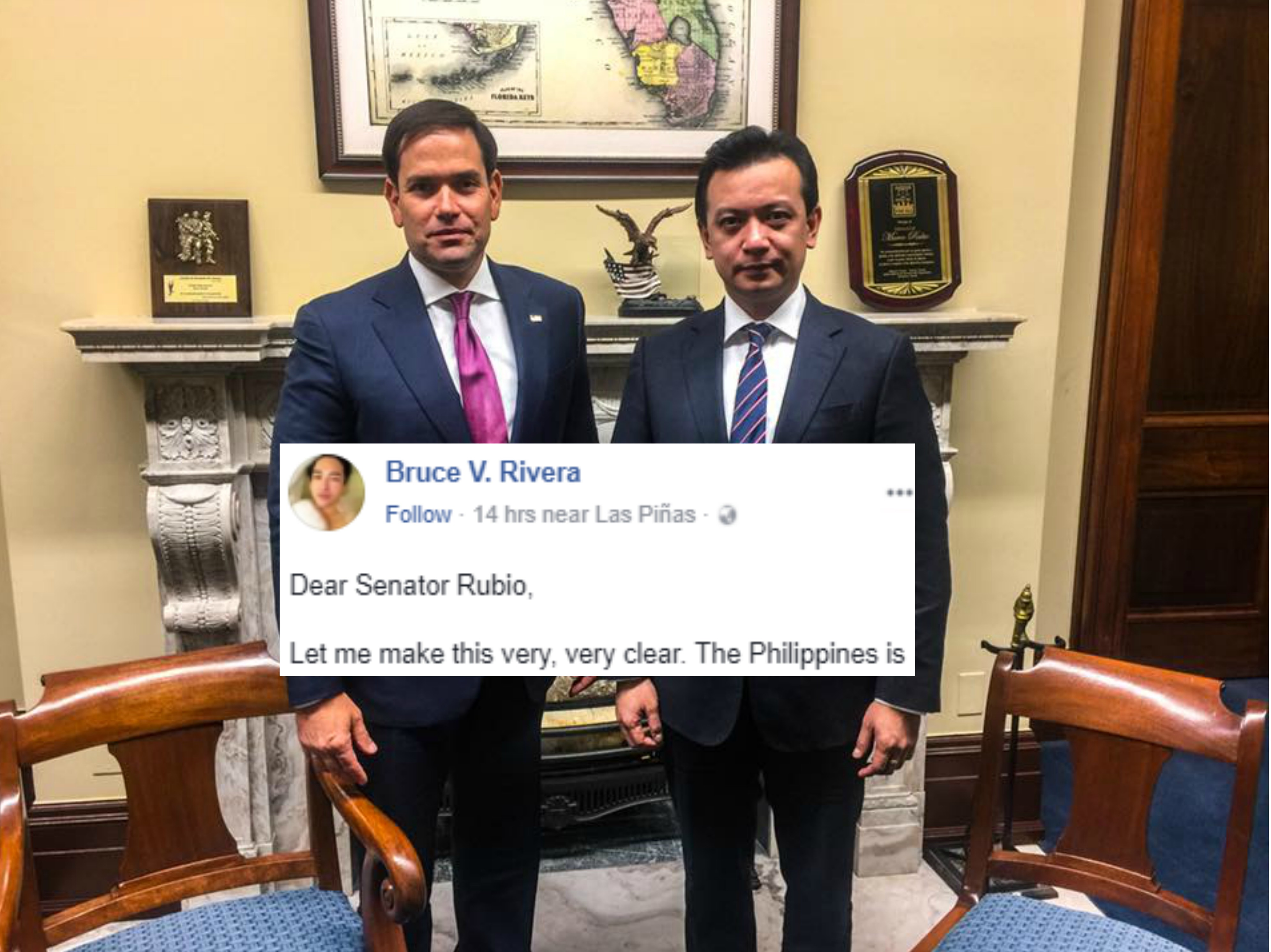 "Netizen writes open letter to Sen. Rubio after meeting with Sen. Trillanes: ""Only a moron can be fooled by a fool."""
