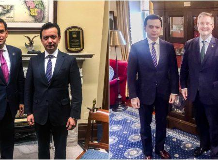 LOOK: Senator Antonio Trillanes IV meet with U.S politicians