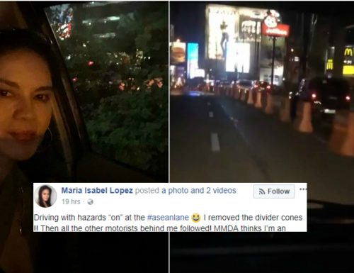 Actress Maria Isabel Lopez is in hot water after she boasts driving in ASEAN lane without permit