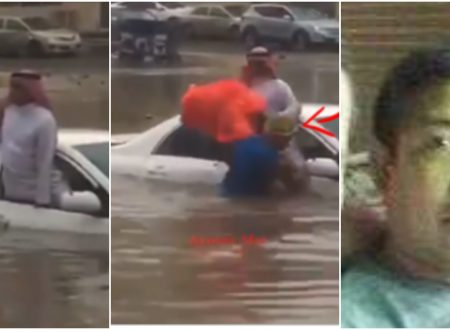 """Proud to be Pinoy"" Meet the Filipino who saves an elder Saudi caught in the middle of a flood in Jeddah"