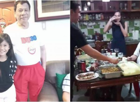 LOOK: President Duterte's simple New Year's feast in his Davao City house