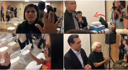 WATCH: Pro-Duterte blogger confronts Sen. Trillanes during a forum in Los Angeles