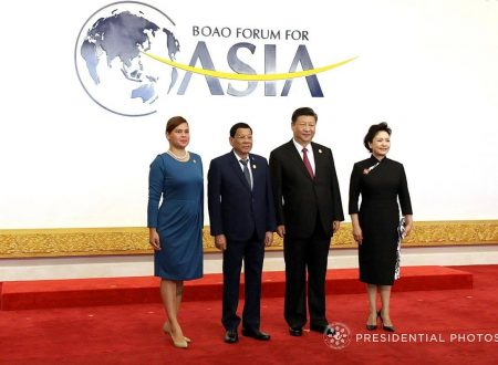LOOK: President Duterte and Mayor Inday Sara pose with Chinese President Xi Jinping and wife